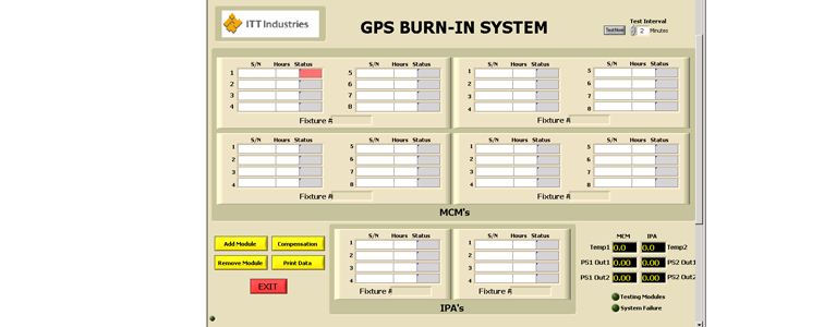 Burn-In Control Software